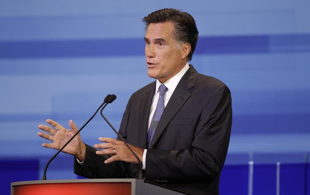 Former Massachusetts Gov. Mitt Romney speaks during Thursday's GOP Debate. (AP)