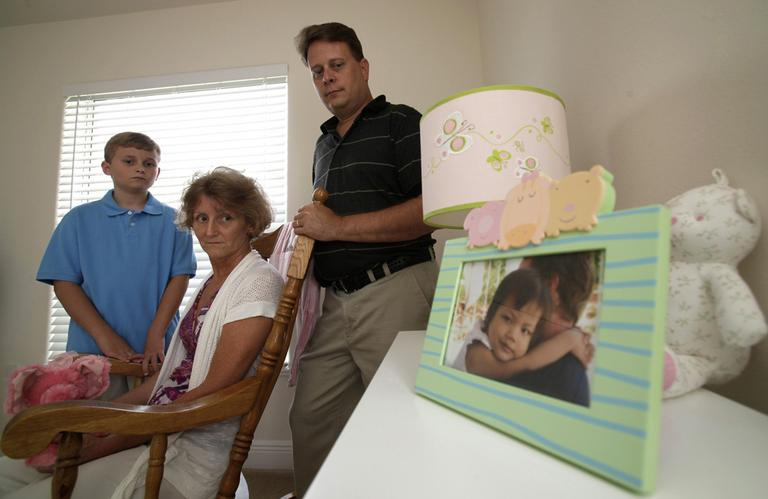 The Long family from Florida is trying to adopt 4-year-old Vietnamese girl Ava Thuy but have run into legal hurdles. (AP)