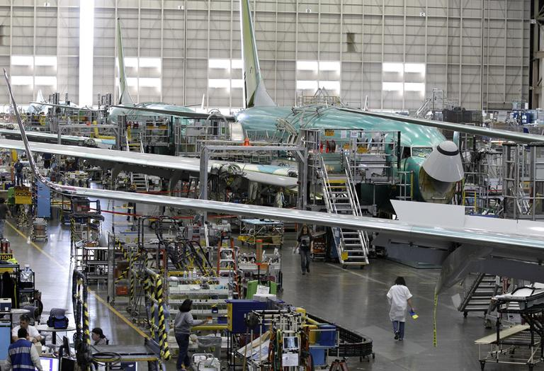 The Boeing Co. 737 assembly facility is shown in Renton, Wash., Boeing asked a Seattle judge to dismiss a case brought by the National Labor Relations Board that accuses the plane maker of breaking the law when it built a non-union production line in South Carolina. (AP)