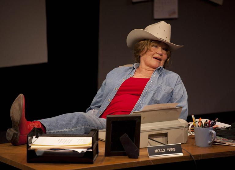 "Tina Packer plays Ivins in ""Red Hot Patriot: The Kick-Ass Wit of Molly Ivins."" (Kevin Sprague/Courtesy Shakespeare & Company)"