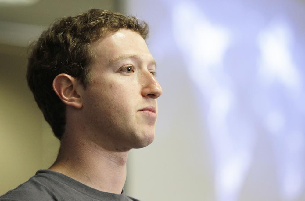 Facebook CEO Mark Zuckerberg during an announcement at Facebook headquarters in Palo Alto, Calif., Wednesday, July 6, 2011. (AP)