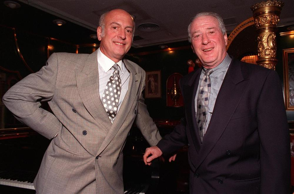 Songwriters Mike Stoller, left, and Jerry Leiber in New York City in 1992. (AP)