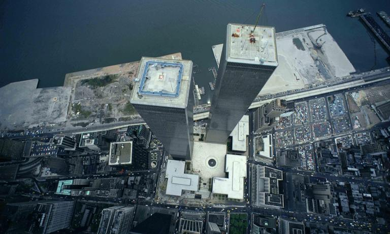 An aerial view of the World Trade Center is shown this undated photo. (AP)