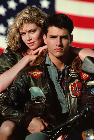 """Kelly McGillis and Tom Cruise are shown in a promotional image for the 1986 film, """"Top Gun."""" (AP)"""