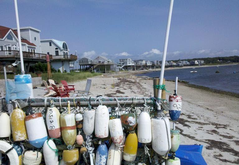 The Mattapoisett beach was rebuilt after Hurricane Bob, the last major hurricane to hit Massachusetts, descended on the Bay State in 1991. (Lynn Jolicoeur for WBUR)