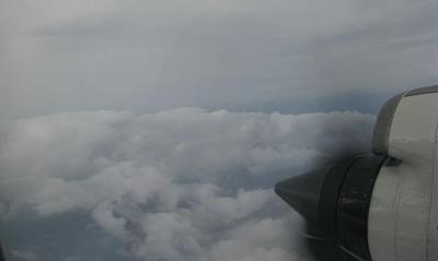 A view of the eye of Hurricane Irene taken from a National Oceanic and Atmospheric Administration aircraft. (Courtesy of NOAA)