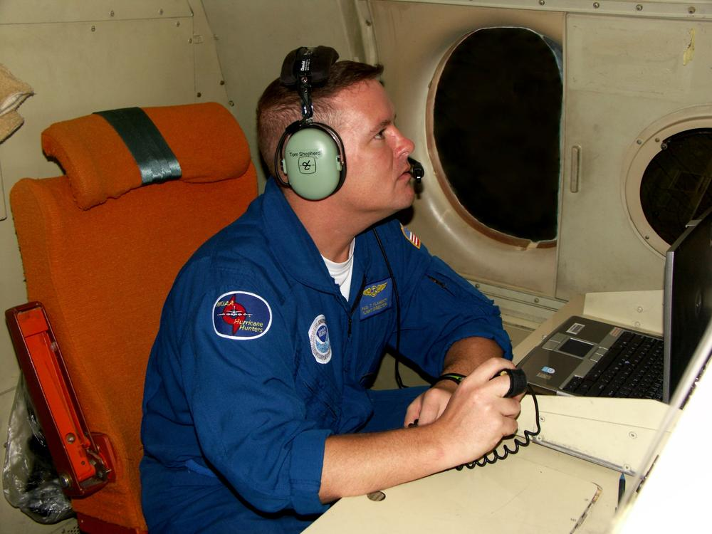 Paul Flaherty, a hurricane hunter with the NOAA. (Courtesy of NOAA)