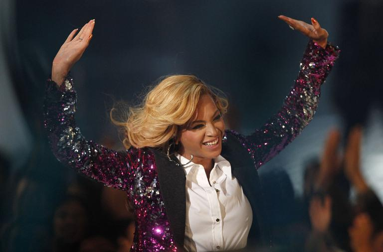 Beyonce performing at the MTV Video Music Awards on Sunday (AP)
