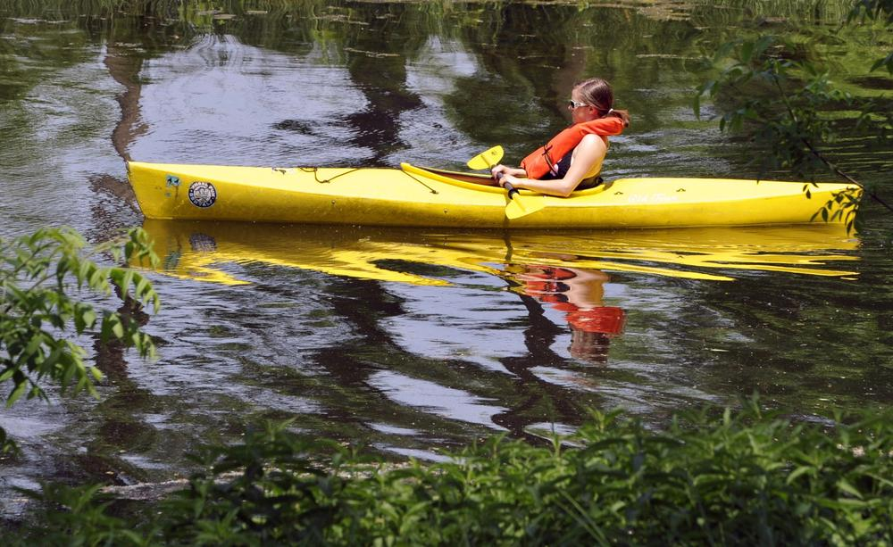 This is not Bill Littlefield. Nor is it the place he kayaked. (AP)