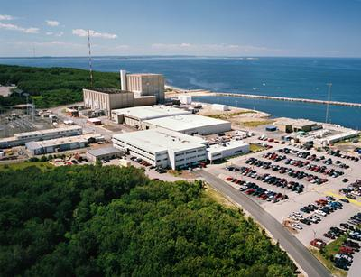 Pilgrim Power Station in Plymouth (WBUR file photo/Courtesy of Entergy Nuclear)