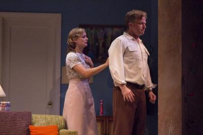 """Rebecca Brooksher and C.J. Wilson in Berkshire Theatre Festival's production of """"Period of Adjustment"""" by Tennessee Williams. (Courtesy of Christy Wright)"""