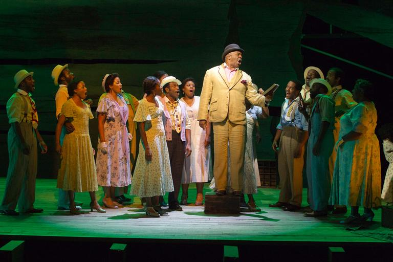 David Alan Grier as Sportin' Life, with cast (Courtesy of Michael Lutch)