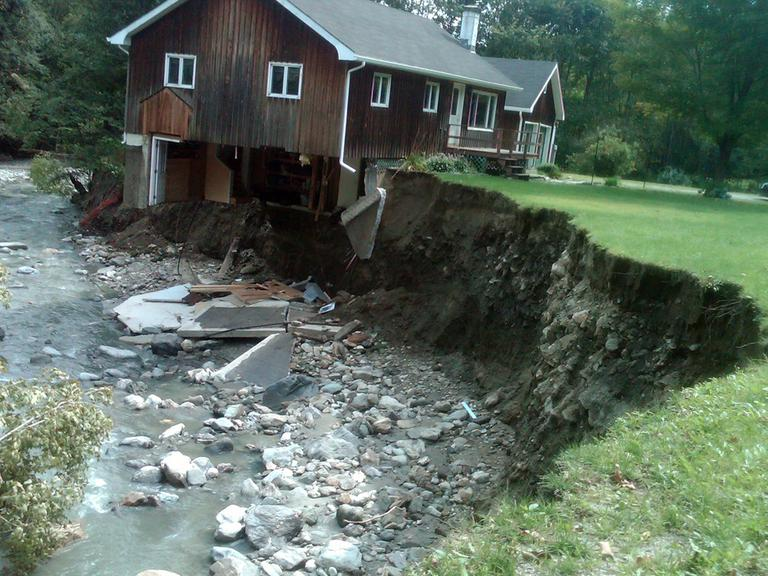 A house that was destroyed by Tropical Storm Irene is seen in Rochester, Vt., Wednesday. (AP)