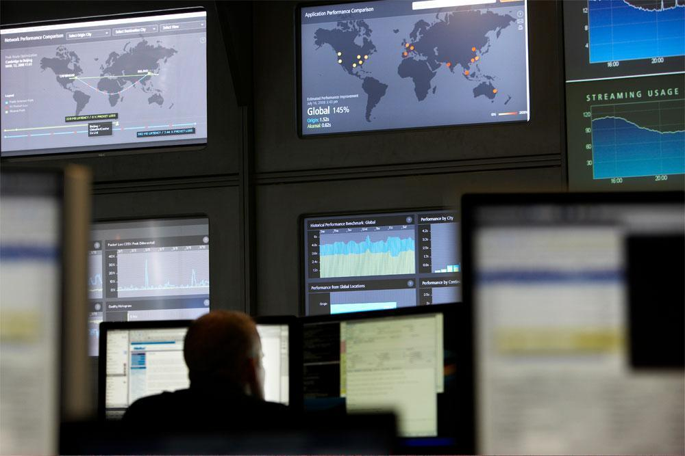 Akamai's networks operations control center, in Cambridge (Courtesy)