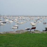 One of the last places Kim Trudell saw her husband was at Crocker Park, overlooking Marblehead Harbor. (Dan Mauzy/WBUR)