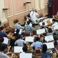 "The Youth Philharmonic Orchestra rehearses ""Illuminesence."" (Delores Handy/WBUR)"