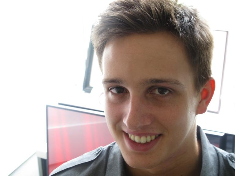 Berklee student Alexander Arntzen is  producing the 9/11 Berklee Memorial Concert. (Andrea Shea/WBUR)