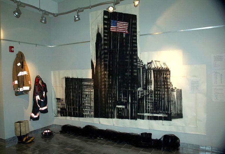 "A firemen's memorial is seen in ""Deutsche Bank Building,"" in ""The Witness Project."" (Courtesy)"