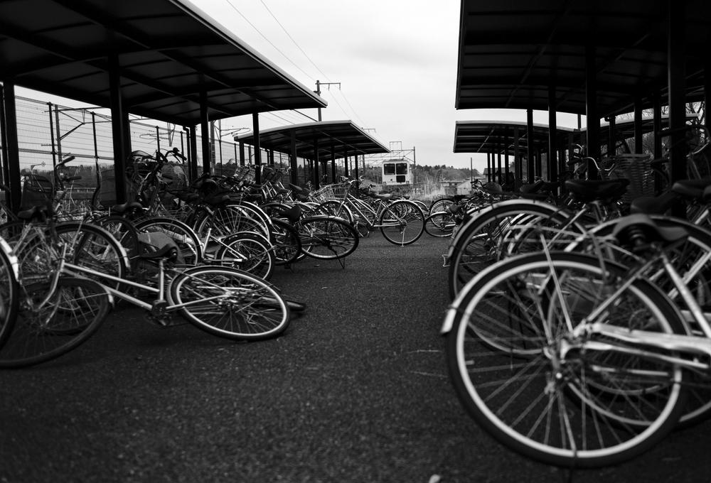 Bycicles are left at the train station in Minamisoma, inside the 20-kilometer (12-mile) evacuation zone, in Fukushima Prefecture, Japan. (AP)