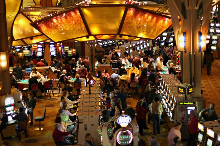 Mohegan Sun in Connecticut is a favorite destination of many Massachusetts gamblers. (graciepoo/Flickr)