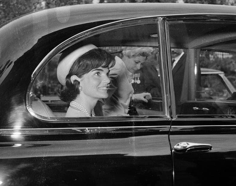 Jackie Kennedy leaves Quai D'orsay in Paris, France, in May 1961. (AP)