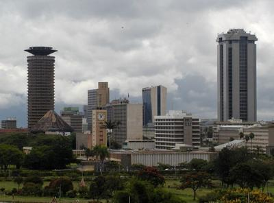 The skyline of Nairobi, Kenya. Kenyan writer Binyavanga Wainaina wrote about how Africa is often portrayed as a place of hunger, tribal people and safaris.