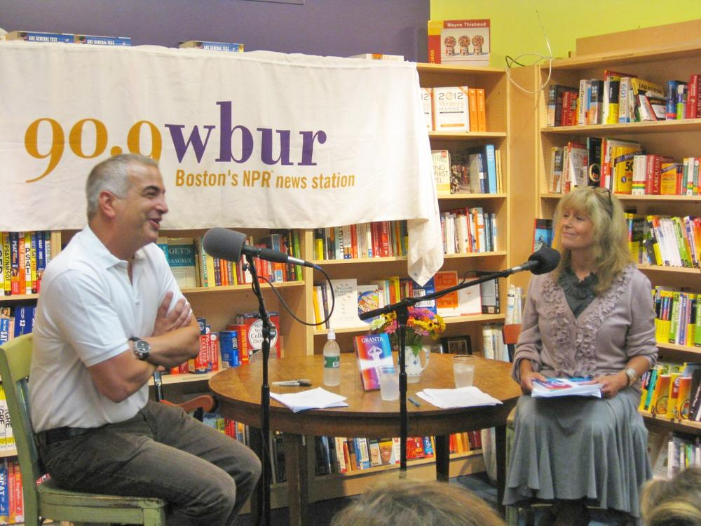 Anthony Shadid, Beirut bureau chief for the New York Times, spoke with Here & Now's Robin Young at Porter Square Books. (Courtesy of Porter Square Books)