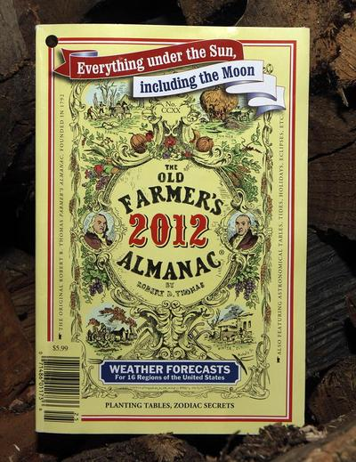 The 2012 edition of the Old Farmer's Almanac in Concord, NH. (AP)