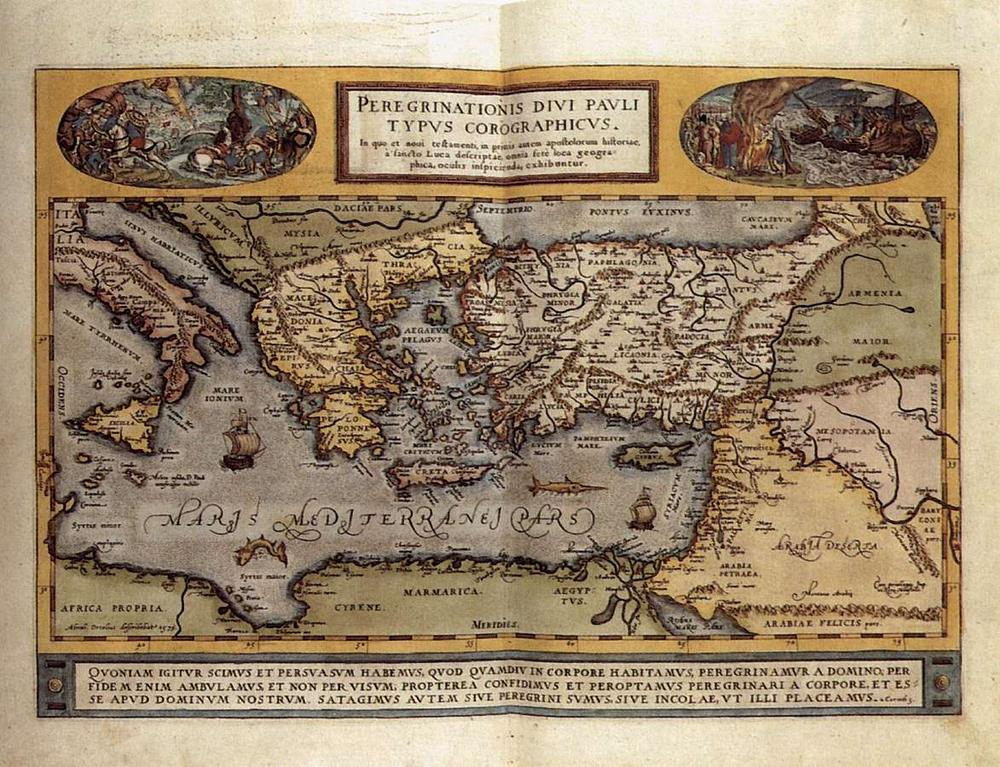 Abraham Ortelius (1527–1598) map. (Library of Congress)