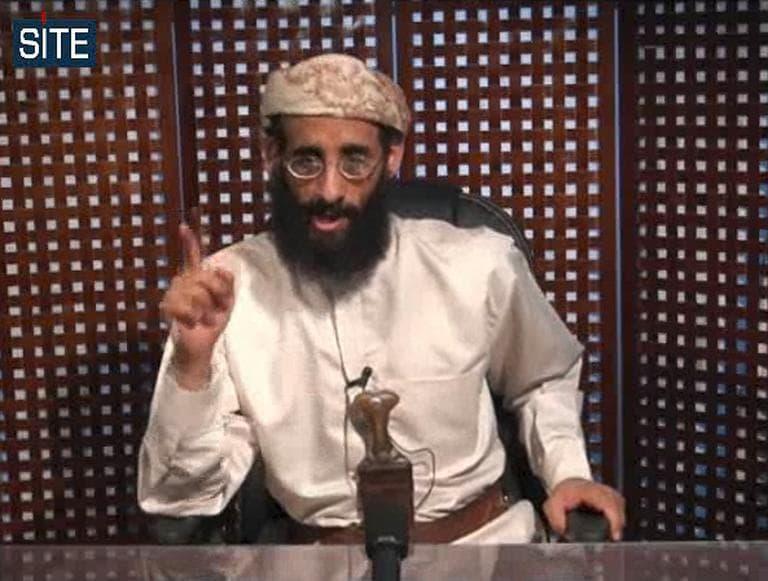 Anwar al-Awlaki speaks in a video message posted on radical websites.  (AP)
