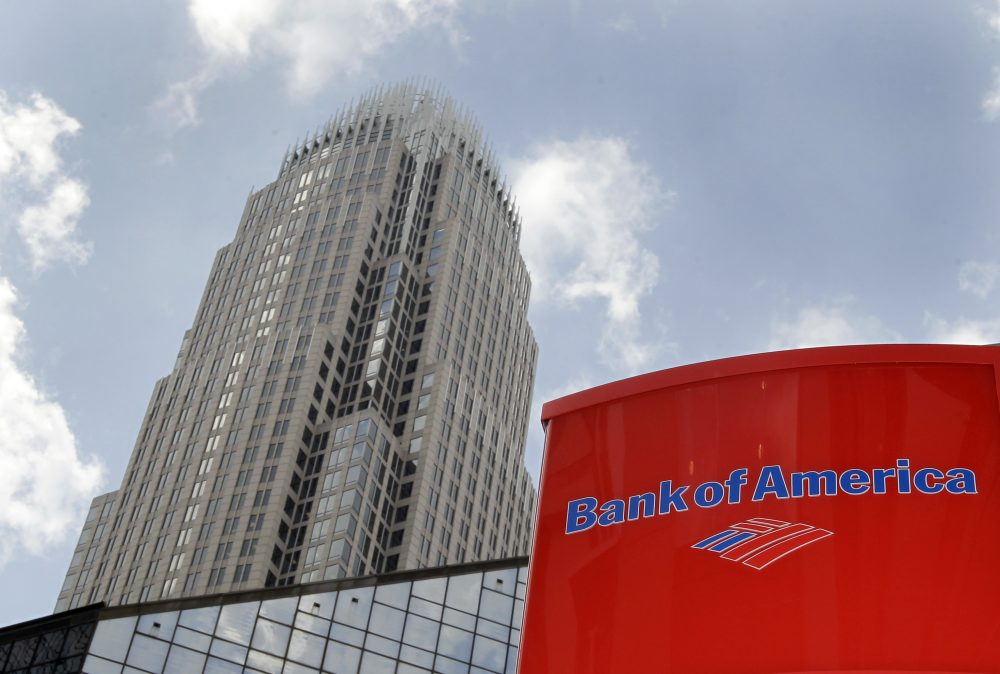Bank of America's corporate headquarters are shown in Charlotte, N.C., Thursday, July 15, 2010. (Chuck Burton/AP)