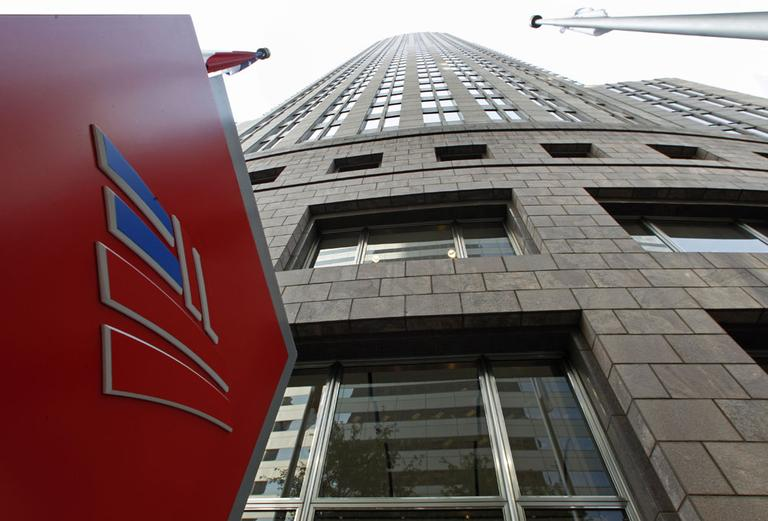 Bank of America's corporate headquarters is shown in Charlotte, N.C. (AP)