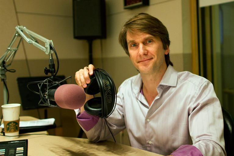 Marshall Van Alstyne in the On Point studio. (Jesse Costa/WBUR)