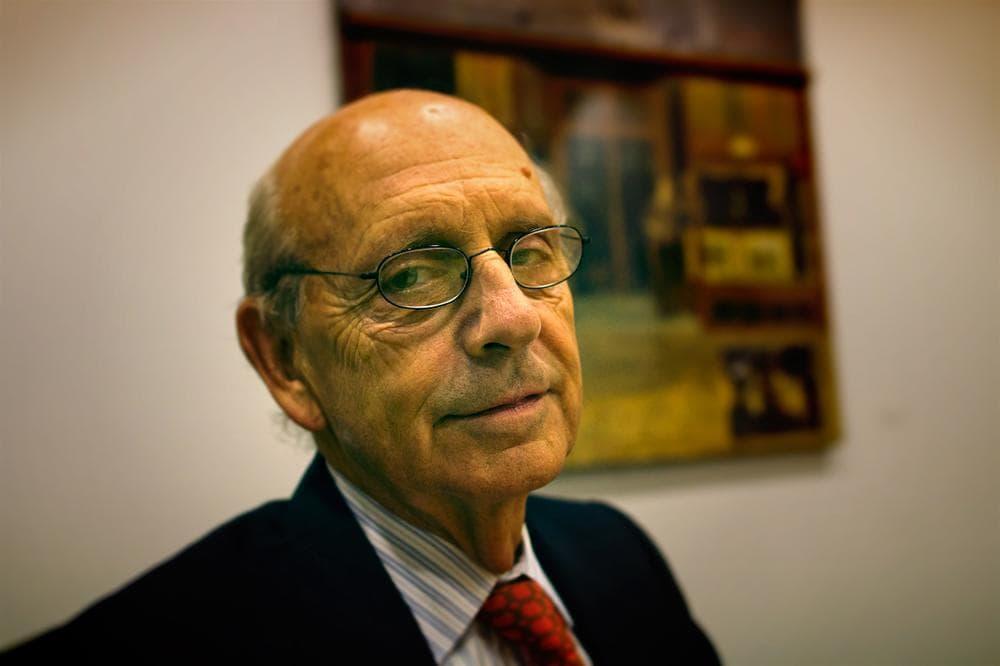 Justice Stephen Breyer at WBUR. (Jesse Costa/WBUR)