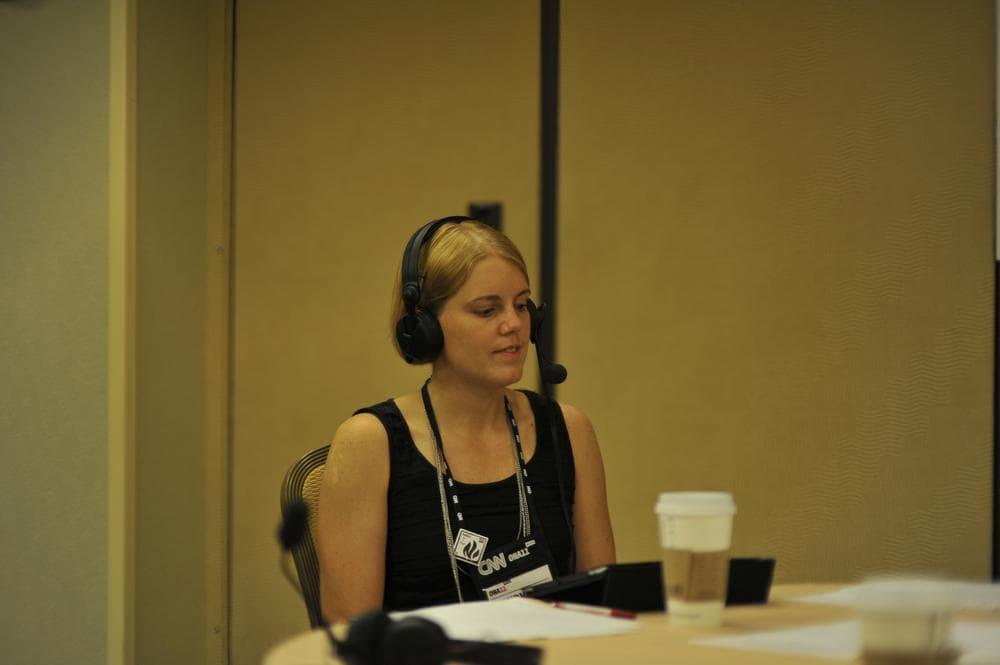 Huffington Post's Mandy Jenkins talks with On Point. (Alex Kingsbury/WBUR)