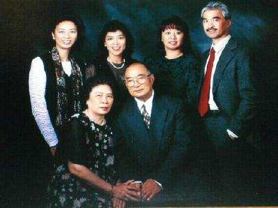 Standing, from left: Betty, Gloria, Cathie and Harry Ong. Seated are the siblings' mother and father. (Courtesy)
