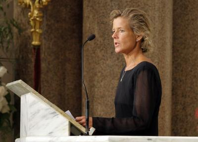 Kara Kennedy speaking at the funeral of her father, Ted Kennedy.