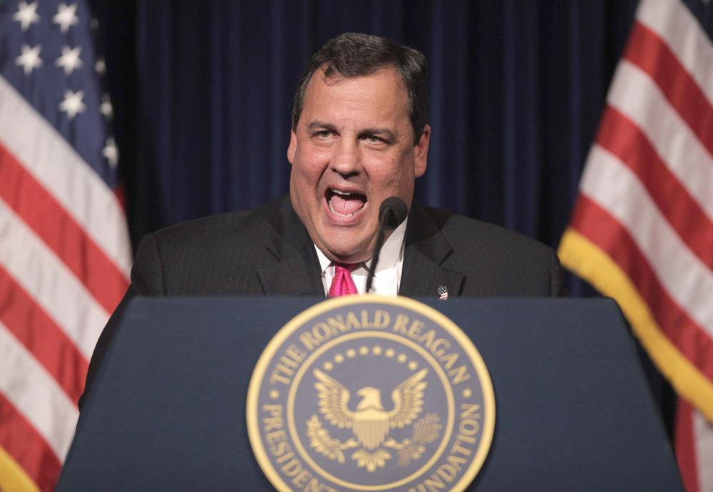 New Jersey Gov. Chris Christie speaks at the Ronald Reagan Presidential Library in Simi Valley, Calif. in September. (AP)