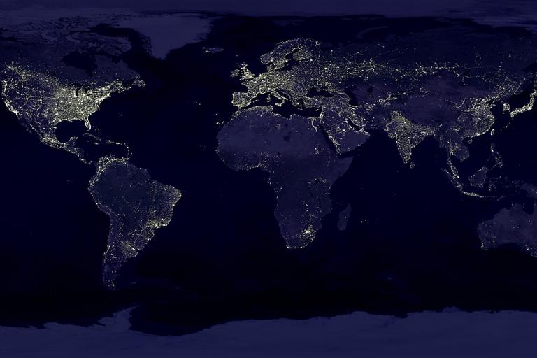 The earth at night. (NASA)