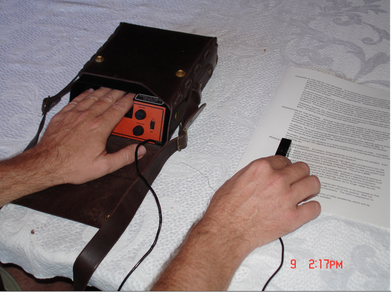 """The Optacon allows blind people to """"read"""" complex visual material through their fingertips."""