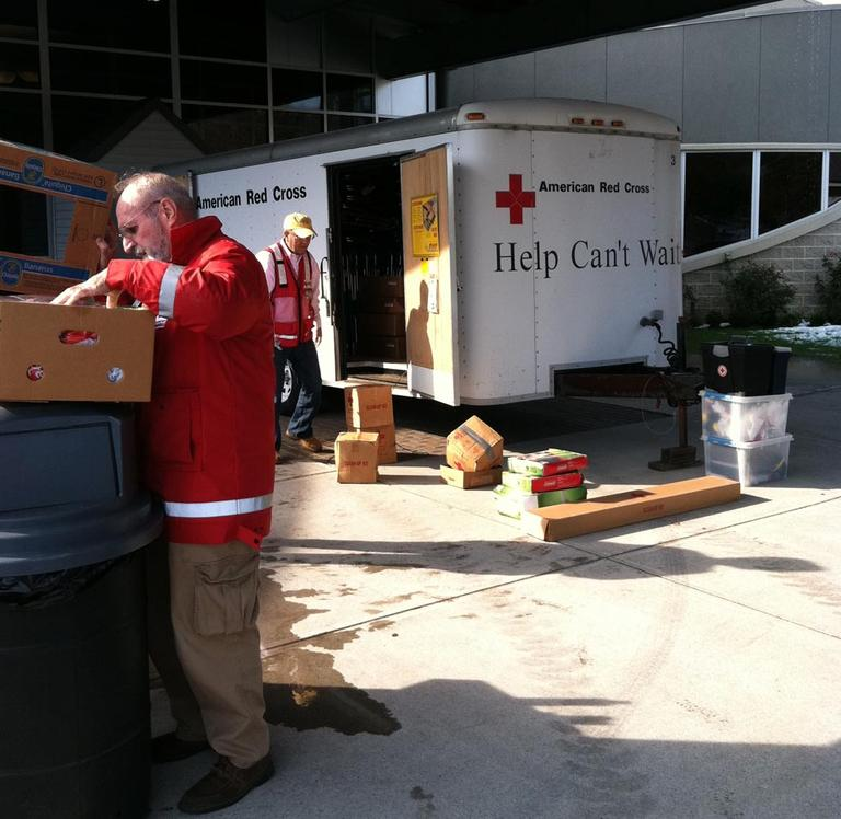 The American Red Cross in Wrentham (Deborah Becker/WBUR)