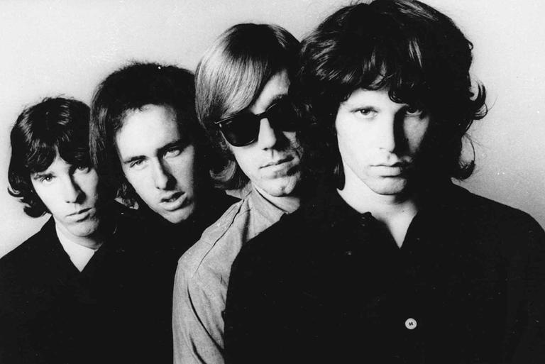 Members of the Doors pose for an undated publicity photo. From left; John Densmore, Robbie Krieger, Ray Manzarek and Jim Morrison. Morrison died in 1971 at age 27. (AP)
