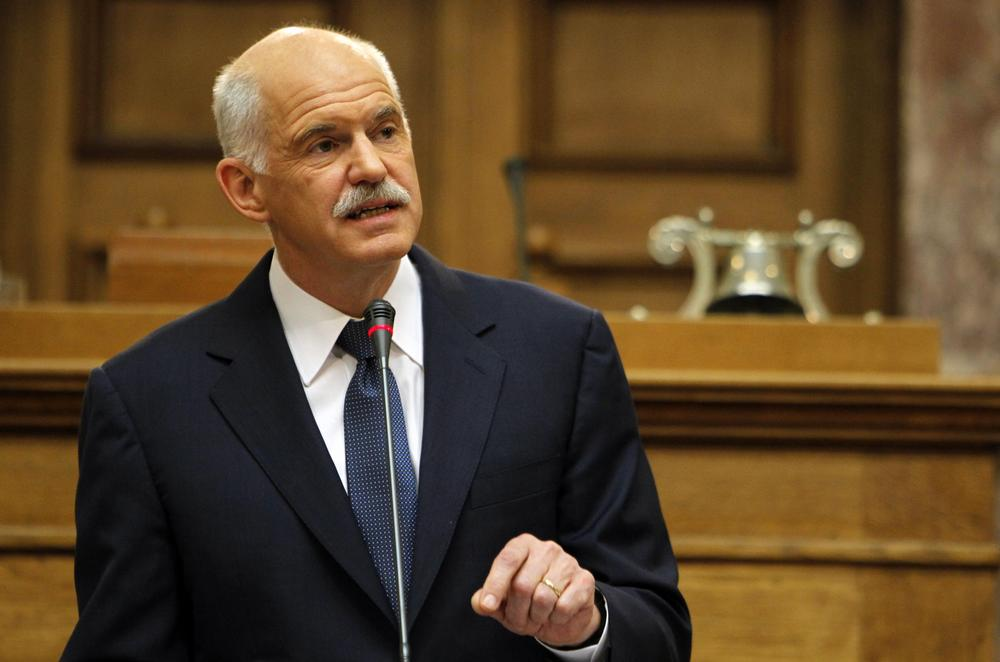 Greek Prime Minister George Papandreou says his country will hold a referendum on a new European debt deal reached last week, leading other European leaders to lash out at him. (AP)