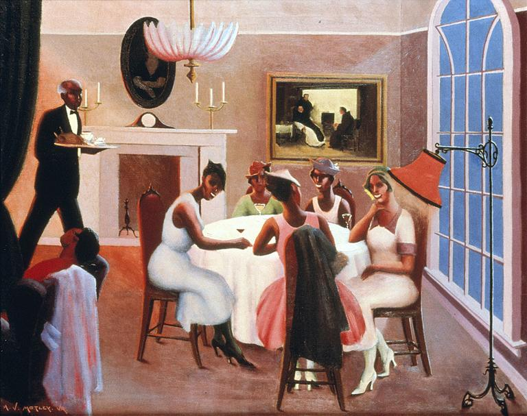 """Cocktails"" by Archibald Motley was one of seven works by major African-American artists donated to Boston's Museum of Fine Arts by the collector John Axelrod. (Courtesy: MFA)"