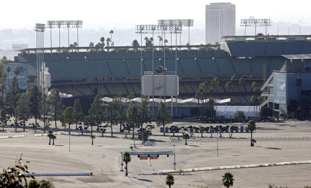 The view outside of Dodgers Stadium in Los Angeles after Frank McCourt agreed to sell one of the sport's most storied franchises. (AP)