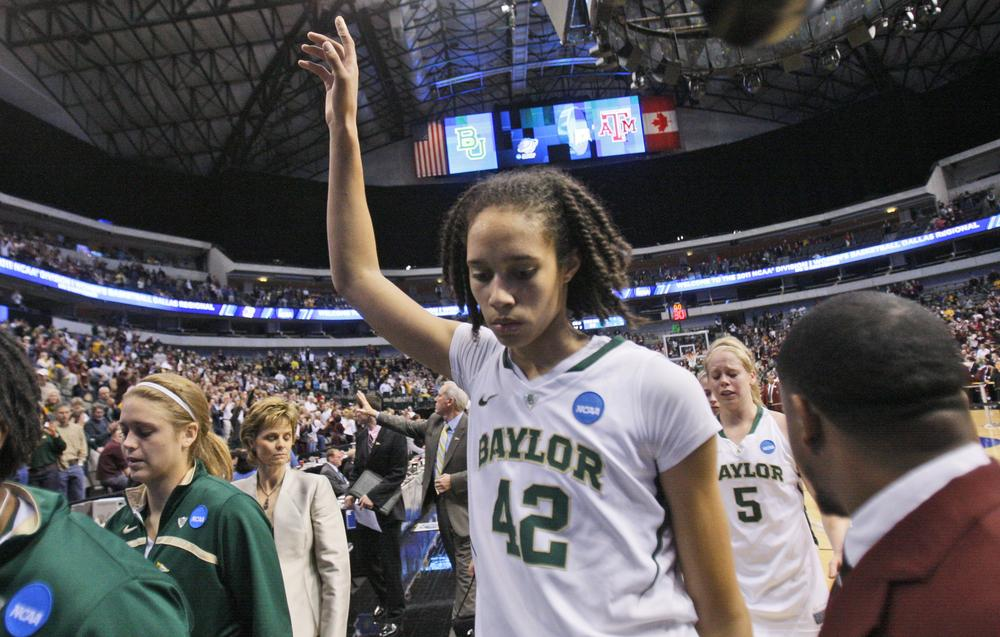 Baylor's Brittney Griner was selected for The Associated Press' preseason All-America team on Tuesday, becoming only the eighth player in history to receive all 40 votes. (AP)