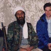 Journalist Peter Bergen and Osama Bin Laden in 1997. (Photo Courtesy of Peter Bergen)