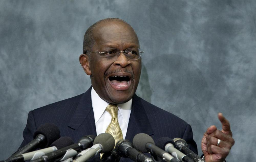 Herman Cain speaks at the Congressional Health Caucus Thought Leaders Series, on Wednesday, Nov. 2. (AP)