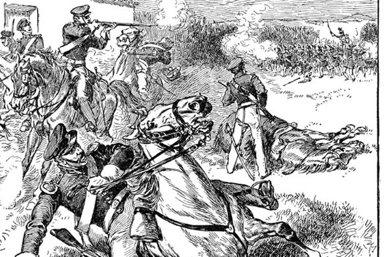 Mexican American War: Defeat of American Dragoons at the Battle of Resaca de la Palma. (Edward Ellis, 1910)