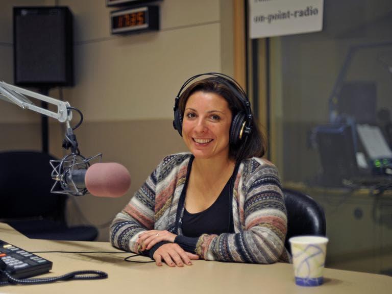 Lourdes Garcia-Navarro in the On Point studio. (Alex Kingsbury/WBUR)